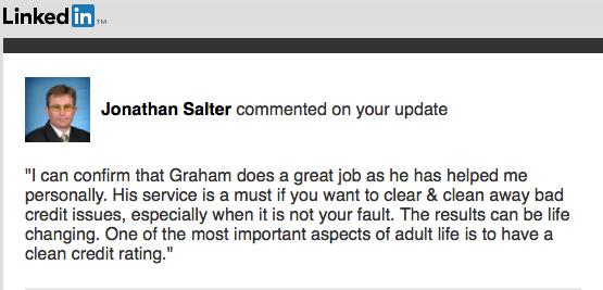 Jonathan Salter | Testimonial | MyCRA Lawyers | Credit Repair Experts | 1300-667-218